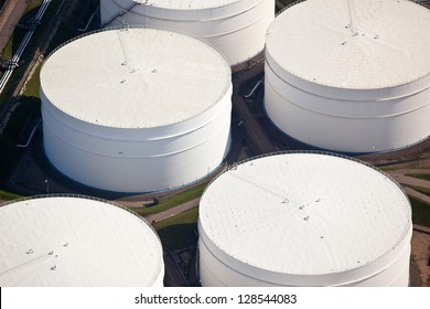 Oil drums in a port