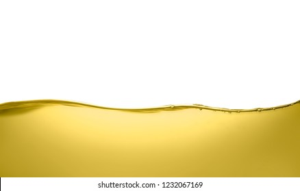 Oil flow on white background. Color liquid