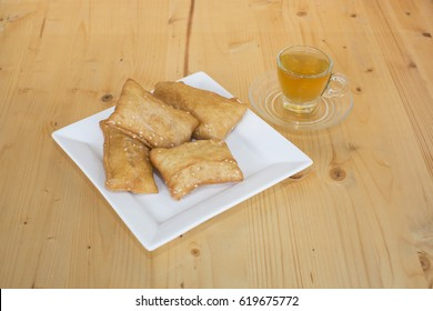oil fried pastry with a tea