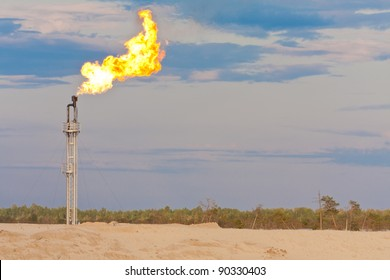 Oil gas flare