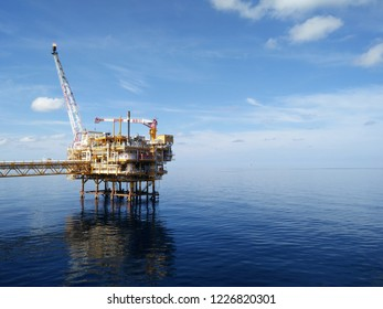 Oil and gas industry .Offshore construction platform for production oil and gas, Production platform and , oil and rig industry .