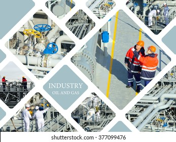 Oil And Gas Industry. Work on the gas tanker safety monitor. Industrial concept
