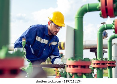 Oil and Gas Industry Working Man