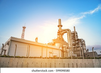 Oil and gas industry,refinery factory,petrochemical plant area.
