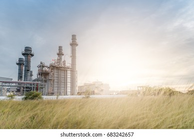 Oil and gas industry,refinery at sunset,petrochemical plant,
