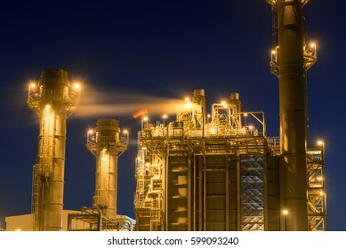 Oil and gas industry,refinery at twilight,petrochemical plant