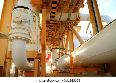 Oil and gas processing industry. Oil and gas processing pipeline.
