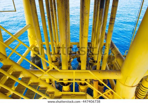 Oil Gas Producing Slots Offshore Platform Stock Photo (Edit