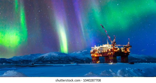 Oil and gas production platform in Norway