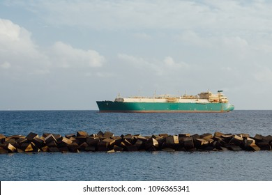 oil and gas tanker, cargo ship in ocean