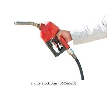 oil gasoline dispenser isolate on over white background