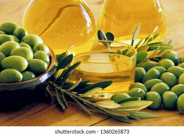 Oil and green olives, Calabria, Italy, Europe