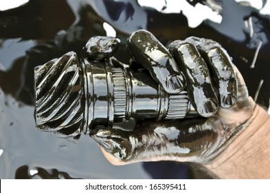 Oil - Hand stained with oil.
