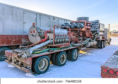 oil industry business fracking truck