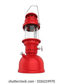 Oil Lamp Isolated. 3D rendering