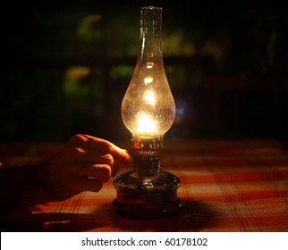 Oil Lamp Lighting up the Darkness