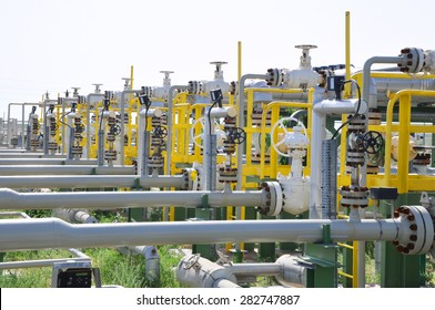 Oil Manifold on Metering Station