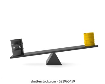 oil and money scale 3d