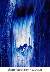 Oil on Canvas - detail - brush marks on oil paint