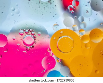 Oil on water Phtograph colourful