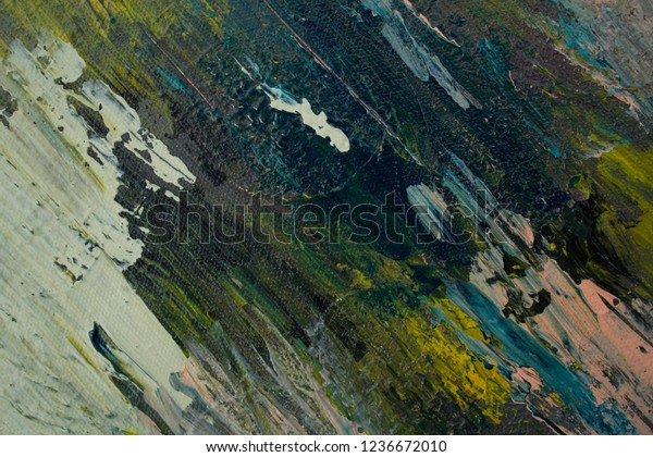 Oil Paint Abstract Texture Background On Stock Photo Edit