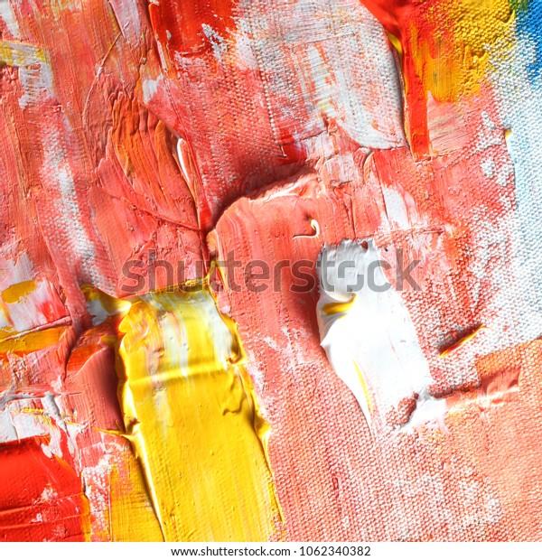 Oil paint on canvas
