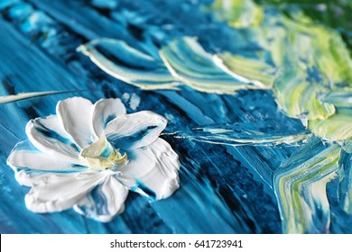 Oil painting of beautiful flower