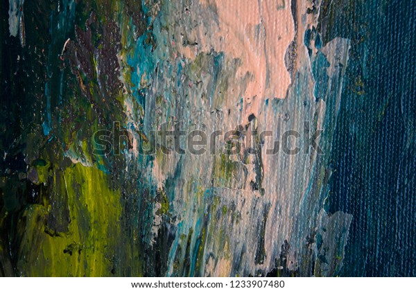 Oil Painting Canvas Abstract Texture Background