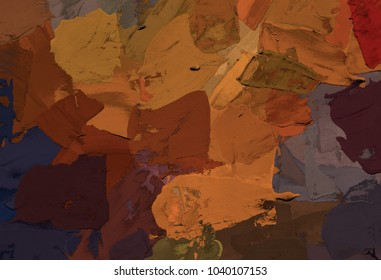 Oil painting on canvas handmade. Abstract art texture. Colorful texture. Modern artwork. Strokes of fat paint. Brushstrokes.  Artistic canvas.
