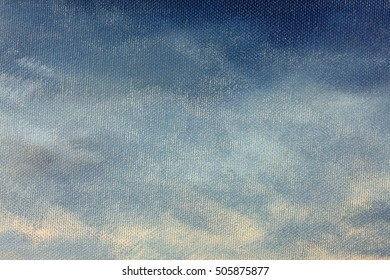 oil painting of rain clouds on canvas