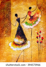 Oil Painting - Spanish Dance