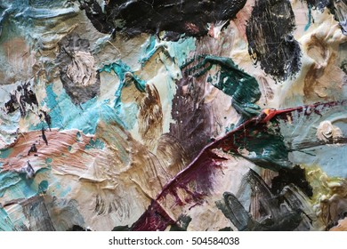 oil painting texture close up