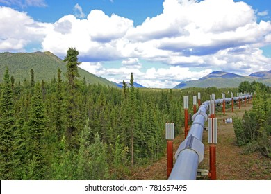 Oil pipeline along Dalton Highway, leading from Valdez, Fairbanks to Prudhoe Bay, northern Alaska, USA