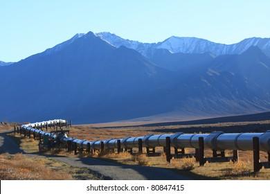 Oil Pipeline on the North Slope of Alaska