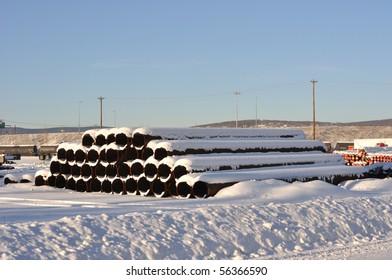 Oil Pipeline Storage Area