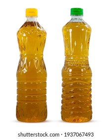 Oil plastic bottle isolated on white background