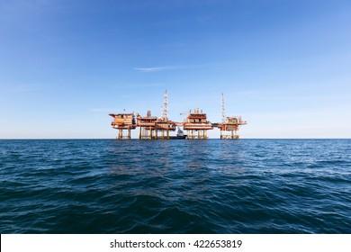 Oil platform in Australia