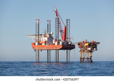 Oil platform in Azerbaijan