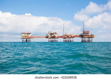 Oil platform at day light