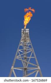 Oil platform flare tip