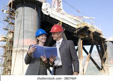 Oil platform inspectors