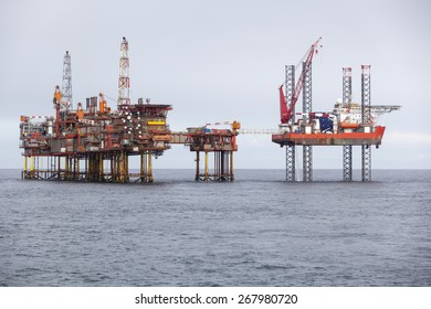 Oil platform on the North Sea