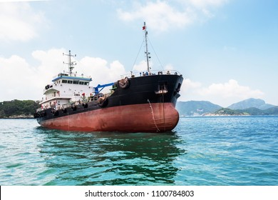 Oil product coastal tanker in South-China Sea, Pacific Ocean.