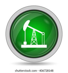 Oil pump icon. Internet button on white background.