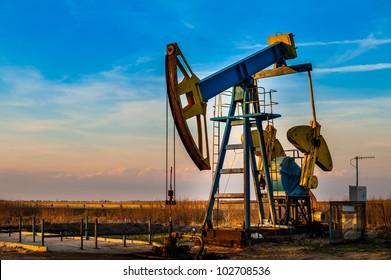 Oil pump. Oil industry equipment.