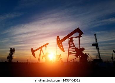 Oil pump in the outdoor work
