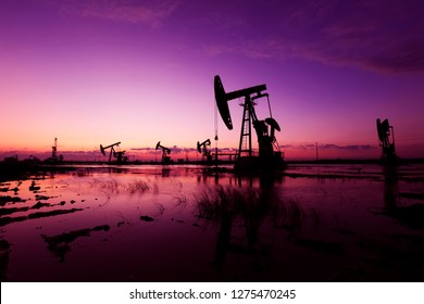 Oil pumping machinery and equipment  at work, China