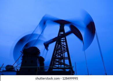 Oil pumps silhouette