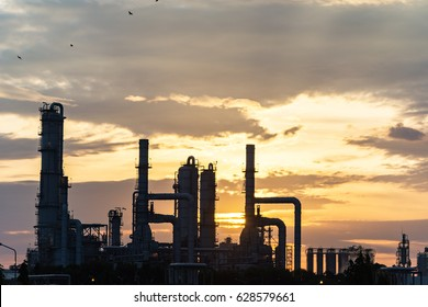 oil refiery plant, and chemical plant in Thailand, oil tank, oil storage, and pipeline