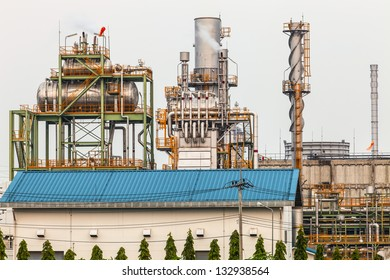 Oil refineries in the country standing outdoor public